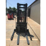 2007 CROWN WS-2300 3500 LB ELECTRIC FORKLIFT WALKIE STACKER CUSHION 84/128 2 STAGE MAST 7299 HOURS STOCK # 5912-132056-ARB