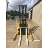 2009 YALE MSW040SEN24TV087 4000 LB ELECTRIC FORKLIFT WALKIE STACKER CUSHION 87/130 2 STAGE MAST 3679 HOURS STOCK # 6426-327901-ARB