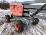 2014 SKYJACK SJ46AJ ARTICULATING BOOM LIFT AERIAL LIFT WITH JIB ARM 46' REACH DIESEL 4WD 1176 HOURS STOCK # BF9352669-ISNY - United Lift Used & New Forklift Telehandler Scissor Lift Boomlift