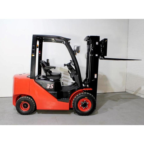 2018 HANGCHA CPCD35-XW33F 7,000 LB FORKLIFT DIESEL PNEUMATIC 86/185 3 STAGE MAST SIDE SHIFTER STOCK # BF9217139-329-BUF