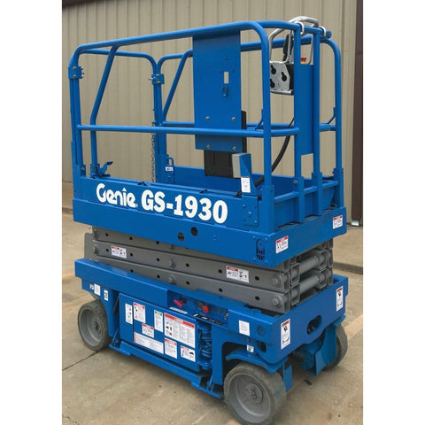 2000 GENIE GS1930 SCISSOR LIFT 19' REACH ELECTRIC ONLY 140 HOURS STOCK # BF32136-ARB