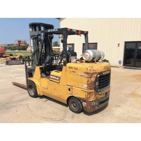 2010 CAT GC55K-LP 12000 LB LP GAS FORKLIFT CUSHION 107/209 3 STAGE MAST 2890 HOURS STOCK # BF9251179-ALTB