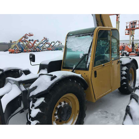 2006 CAT TL943 9000 LB DIESEL TELESCOPIC FORKLIFT TELEHANDLER PNEUMATIC 4WD ENCLOSED HEATED CAB STOCK # BF952319-PEPA