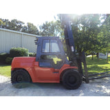 2007 TOYOTA 7FDU80 17500 LB DIESEL FORKLIFT PNEUMATIC ENCLOSED HEATED CAB 140/180 2 STAGE MAST SIDE SHIFTER DUAL TIRES 3258 HOURS STOCK # BF9385169-549-LSCS - Buffalo Forklift LLC