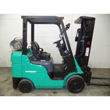 2006 MITSUBISHI FGC25N 5000 LB LP GAS FORKLIFT CUSHION 83/188 3 STAGE MAST SIDE SHIFTER 2334 HOURS STOCK # BF998549-169-LSC
