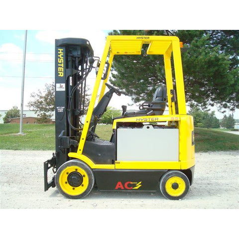 2008 HYSTER E55Z-33 5500 LB 48 VOLT ELECTRIC FORKLIFT CUSHION 87/252 QUAD MAST SIDE SHIFTER UNDER 2000 HOURS STOCK # BF9105059-179-IN - United Lift Used & New Forklift Telehandler Scissor Lift Boomlift