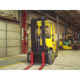 2003 HYSTER H50XM 5000 LB LP GAS FORKLIFT PNEUMATIC 83/189 3 STAGE MAST SIDE SHIFTER 3889 HOURS STOCK # BF998259-139-BUFS