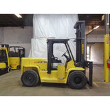 2005 HYSTER H155XL 15500 LB LP PROPANE GAS FORKLIFT PNEUMATIC 127/173 2 STAGE CLEAR VIEW MAST DUAL TIRES 2974 HOURS STOCK # BF9270429-399-BUF - Buffalo Forklift LLC