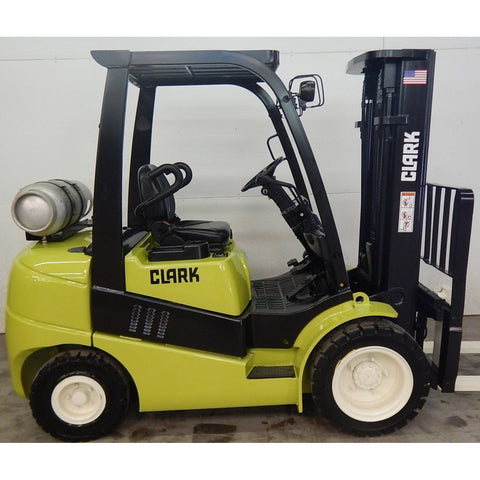 2011 CLARK C30L 6000 LB LP GAS FORKLIFT PNEUMATIC 83/189 3 STAGE MAST SIDE SHIFTER 3100 HOURS STOCK # BF2246-LSC ** ONLY $386.00 PER MONTH **