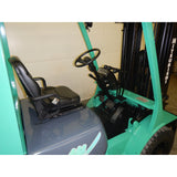 1998 MITSUBISHI FG25N 5000 LB LP GAS FORKLIFT PNEUMATIC 89/188 3 STAGE MAST 5133 HOURS STOCK # BF987519-129-LSC