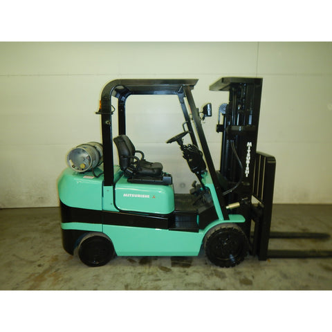 2001 MITSUBISHI FGC30K 6000 LB LP GAS FORKLIFT CUSHION 83/181 3 STAGE MAST SIDE SHIFTER 2836 HOURS STOCK # BF975549-119-LSC - Buffalo Forklift LLC