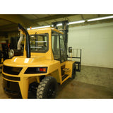 "2009 CAT DP70 15500 DIESEL FORKLIFT PNEUMATIC 136/180"" 2 STAGE MAST DUAL TIRES ENCLOSED CAB STOCK # BF961539-BUF"