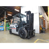 2011 NISSAN PFD110Y 11000 LB DIESEL FORKLIFT PNEUMATIC 89/169 3 STAGE MAST SIDE SHIFTER ENCLOSED HEATED CAB 2490 HOURS STOCK # BF9325979-449-BUF