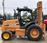 2007 CASE 586G 6000 LB 2WD DIESEL ROUGH TERRAIN FORKLIFT PNEUMATIC 2 STAGE MAST 1882 HOURS STOCK # BF213029-FWTX