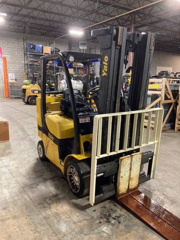 "2014 YALE GLC080VX 8000 LB LP GAS FORKLIFT CUSHION 94/200"" 3 STAGE MAST SIDE SHIFTER 3798 HOURS STOCK # BF9129119-ATMD - United Lift Used & New Forklift Telehandler Scissor Lift Boomlift"
