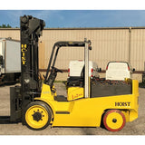 "2004 HOIST E200 20000 LBELECTRIC FORKLIFT CUSHION 126"" 2 STAGE MAST SIDE SHIFTER 2065 HOURS STOCK # BF9373289-549-INB - Buffalo Forklift LLC"