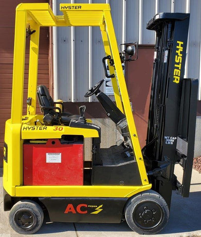 "2012 HYSTER E30Z 3000 LB ELECTRIC CUSHION 88/138"" 2 STAGE FULL FREE LIFT MAST SIDE SHIFTER STOCK # BF975329-INB - United Lift Used & New Forklift Telehandler Scissor Lift Boomlift"