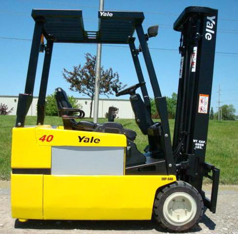 2007 YALE ERP040VTN36TE082 4000 LB 82/187 3 STAGE MAST ELECTRIC FORKLIFT SIDE SHIFTER STOCK # BF9101449-169-INB - united-lift-equipment