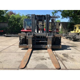 "2013 KALMAR DCE280 62000 LB CAPACITY DIESEL FORKLIFT PNEUMATIC 126"" 2 STAGE MAST ENCLOSED CAB SIDE SHIFTING FORK POSITIONER 2800 HOURS STOCK # BF92499259-CPA"