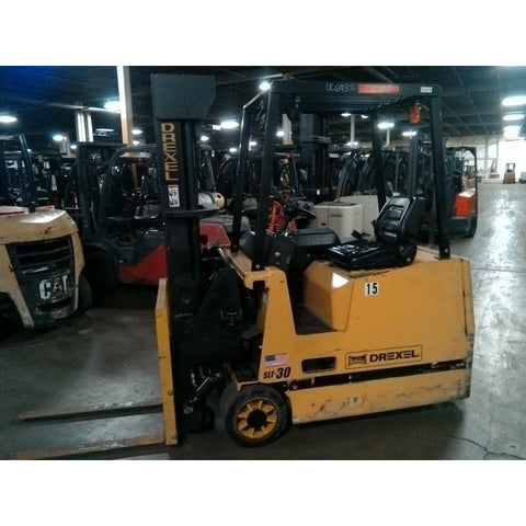 2007 DREXEL SLT30 3000 LB 36 VOLT ELECTRIC FORKLIFT CUSHION 89/205  SWING MAST STOCK # BF9299329-429-BUF