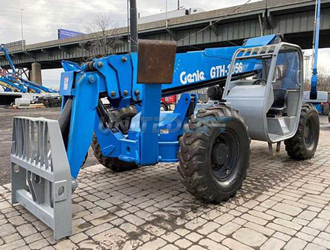 2006 GENIE GTH-1056 10000 LB DIESEL TELESCOPIC FORKLIFT TELEHANDLER OPEN CAB PNEUMATIC 4WD 3962 HOURS STOCK # BF9443219-NLEPA