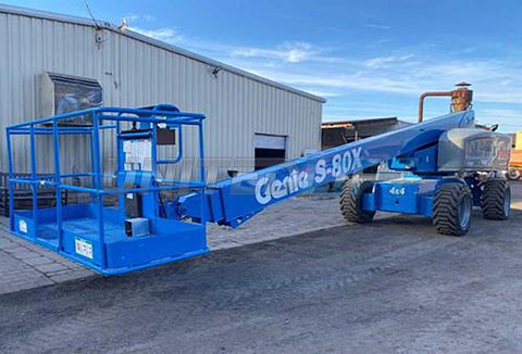 2013 GENIE S80X TELESCOPIC BOOM LIFT AERIAL LIFT 80' REACH DIESEL 4WD 3622 HOURS STOCK # BF9498759-NLEQ