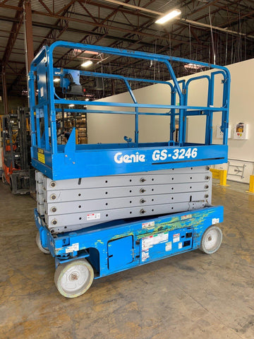 2009 GENIE GS3246 SCISSOR LIFT 32' REACH ELECTRIC SMOOTH CUSHION TIRES STOCK # BF969123-ATLMD