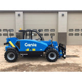 2018 GENIE GTH2506 5500 LB DIESEL TELESCOPIC FORKLIFT TELEHANDLER PNEUMATIC 4WD ENCLOSED CAB STOCK # BF243808-WVB