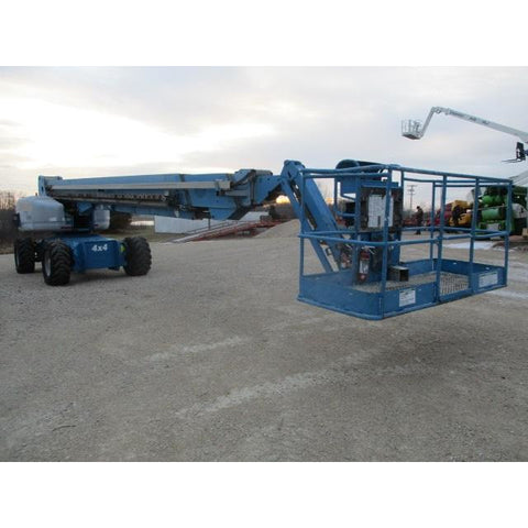 2008 GENIE S125 TELESCOPIC BOOM LIFT AERIAL LIFT 125' REACH DIESEL ONBOARD GENERATOR 4WD 4060 HOURS STOCK # BF468529-649-WIB