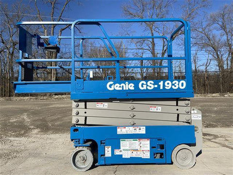 2012 GENIE GS1930 SCISSOR LIFT 19' REACH ELECTRIC 228 HOURS STOCK # BF953519-RIL2
