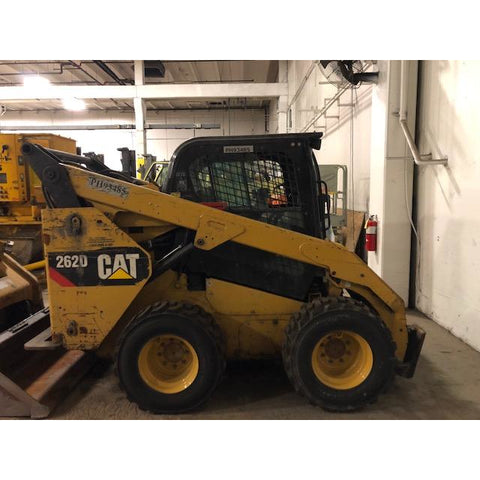 2014 CATERPILLAR 262D SKID STEER ENCLOSED CAB LIKE NEW TIRES BF9185899-299-CONB