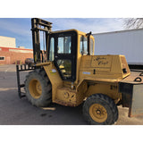 2011 MASTERCRAFT 6000 LB CAPACITY DIESEL ROUGH TERRAIN ENCLOSED CAB FORKLIFT 122/252 3 STAGE MAST SIDE SHIFTER 3677 HOURS STOCK # BF9189788-BUF