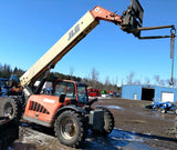 2007 JLG G9-43A 9000 LB DIESEL TELESCOPIC FORKLIFT TELEHANDLER PNEUMATIC 4WD ENCLOSED CAB STOCK # BF9431139-PEMI - united-lift-equipment