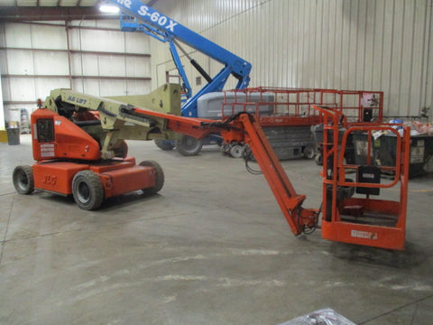 2008 JLG E450AJ ARTICULATING BOOM LIFT AERIAL LIFT WITH JIB ARM 45' REACH ELECTRIC 2WD 1416 HOURS STOCK # BF9194559-299-WIB - united-lift-equipment