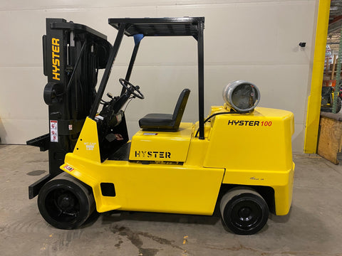 1998 HYSTER S100 10000 LB LP GAS FORKLIFT CUSHION 84/194 3 STAGE MAST STOCK # BF954759-BUF - United Lift Used & New Forklift Telehandler Scissor Lift Boomlift