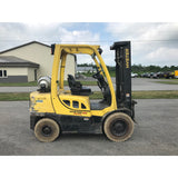 2010 HYSTER H60FT 6000 LB LP GAS FORKLIFT PNEUMATIC 90/187 3 STAGE MAST SIDE SHIFTER 4438 HOURS STOCK # BF9152549-199-BUF