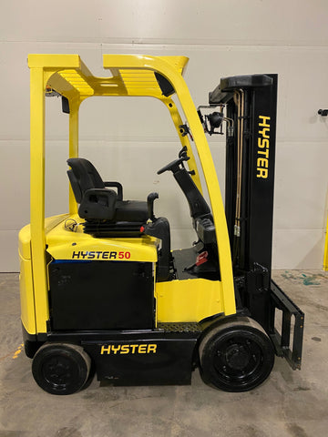 2013 HYSTER E50XN-27 5000 LB ELECTRIC CUSHION 87/134 2 STAGE MAST SIDE SHIFTER STOCK # BF952539-BUF - United Lift Used & New Forklift Telehandler Scissor Lift Boomlift