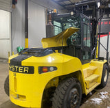"2015 HYSTER H210HD 21000 LB DIESEL FORKLIFT PNEUMATIC 164/212"" 2 STAGE MAST SIDE SHIFTING FORK POSITIONERS DUAL TIRES ENCLOSED HEATED CAB 3213 HOURS STOCK # BF9649589-ILIL - United Lift Used & New Forklift Telehandler Scissor Lift Boomlift"