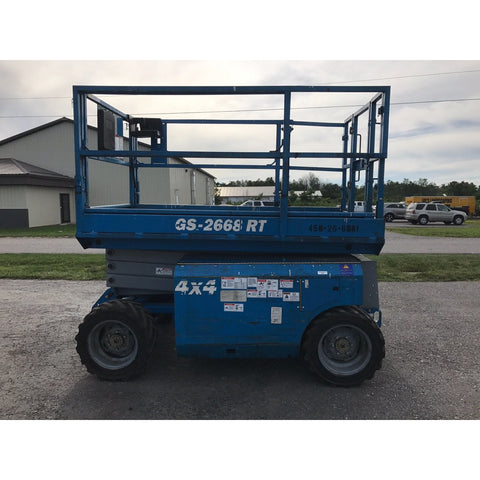 2006 GENIE GS2668RT SCISSOR LIFT 26' REACH DUAL FUEL ROUGH TERRAIN 4WD STOCK # BF983479-149-BUF - Buffalo Forklift LLC