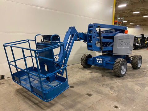 2014 GENIE Z45/25J ARTICULATING BOOM LIFT AERIAL LIFT WITH JIB ARM 45' REACH DIESEL 4WD 2135 HOURS STOCK # BF9321579-BUF