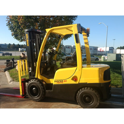 2007 HYSTER H60FT 6000 LB DIESEL FORKLIFT PNEUMATIC 90/187 3 STAGE MAST SIDE SHIFTER 6900 HOURS STOCK # BF912159-PEIA - united-lift-equipment