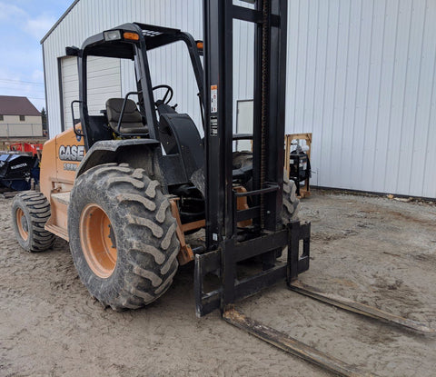 "2016 CASE 588H 8000 LB DIESEL ROUGH TERRAIN 4WD FORKLIFT 180"" 2 STAGE MAST PNEUMATIC SIDE SHIFTER 243 HOURS STOCK # BF964919-SMWI - united-lift-equipment"