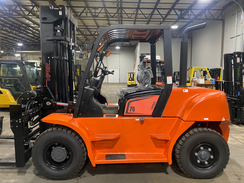 "2021 VIPER FD70 **IN STOCK READY TO SHIP**15500 LB DIESEL FORKLIFT DUAL PNEUMATIC 108/189"" 3 STAGE MAST SIDE SHIFTING FORK POSITIONER STOCK # BF9583559-ILIL - United Lift Equipment LLC"