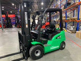 2020 HANGCHA CYD25-AC 5000 LB LITHIUM ION BATTERY 10 HOUR RUN TIME FORKLIFT ELECTRIC PNEUMATIC 88/185 3 STAGE MAST SIDE SHIFTER FORK POSITIONER STOCK # BF9502359-599-BUF - United Lift Used & New Forklift Telehandler Scissor Lift Boomlift