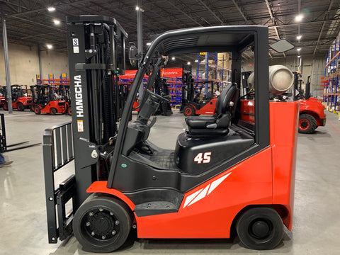 BRAND NEW 2020 HANGCHA CPYD45 10000 LB FORKLIFT LP CUSHION 92/188 3 STAGE MAST SIDE SHIFTER STOCK # BF9386789-BUF - United Lift Used & New Forklift Telehandler Scissor Lift Boomlift