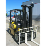 2006 YALE GLP060VXEVSE093 6000 LB LP GAS FORKLIFT PNEUMATIC 93/200 3 STAGE MAST SIDE SHIFTER 6774 HOURS STOCK # BF9153819-RILB