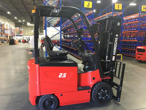 2020 HANGCHA A-25 5000 LB FORKLIFT ELECTRIC CUSHION 86/185 3 STAGE MAST SIDE SHIFTER STOCK # BF920629-BUF
