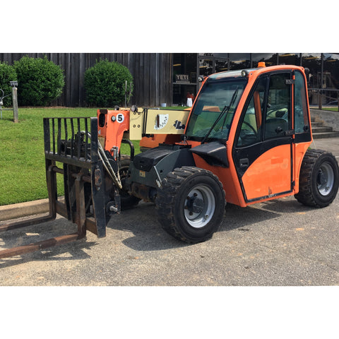2012 JLG G5-18A 5500 LB DIESEL TELESCOPIC ENCLOSED CAB FORKLIFT 4WD 940 HOURS STOCK #  BF944519-ACGA - United Lift Used & New Forklift Telehandler Scissor Lift Boomlift