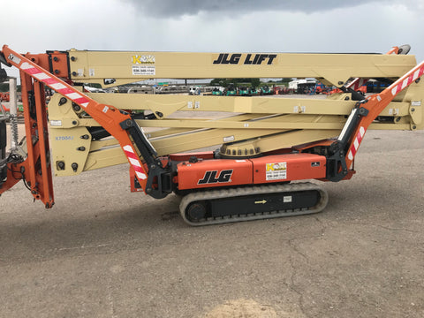 2012 JLG X700AJ CRAWLER BOOM LIFT ARTICULATING WITH JIB ARM LIFT ELECTRIC 70' REACH TRAX TIRES 1300 HOURS STOCK # BF9754829-KKMO