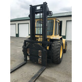 2003 SELLICK SD120 12000 LB DIESEL ROUGH TERRAIN 2WD FORKLIFT 118/144 2 STAGE MAST HEATED CAB ROTATOR STOCK # BF9203249-399-BUF - Buffalo Forklift LLC